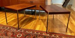 Uno Osten Kristiansson Pair of Rosewood and Aluminum Sidetables by Luxus - 1117221