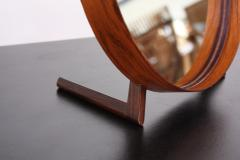 Uno Osten Kristiansson Swedish Rosewood Table Mirror by Uno and O sten Kristiansson for Luxus - 383250
