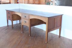 Unusual Antique School Double Oak Desk - 1365127