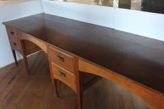 Unusual Antique School Double Oak Desk - 1365129