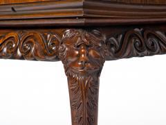 Unusual Irish Elm Rosewood and Satinwood Games Table - 291977