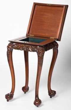 Unusual Irish Elm Rosewood and Satinwood Games Table - 291978