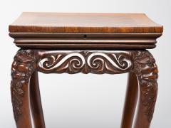 Unusual Irish Elm Rosewood and Satinwood Games Table - 291980