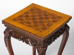 Unusual Irish Elm Rosewood and Satinwood Games Table - 291981