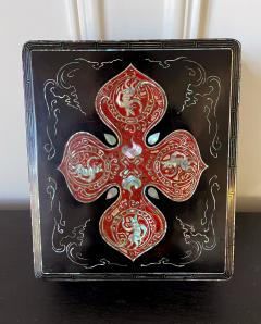 Unusual Japanese Lacquer Inkstone Box with MOP Inlays - 1826424