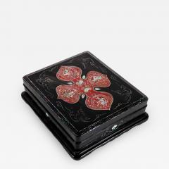 Unusual Japanese Lacquer Inkstone Box with MOP Inlays - 1827248