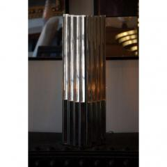 Unusual Lucite and Chrome 1970s Column Lamp - 1080798