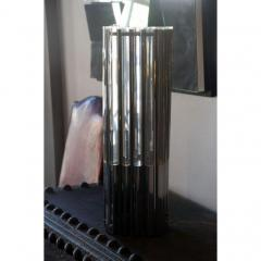 Unusual Lucite and Chrome 1970s Column Lamp - 1080800
