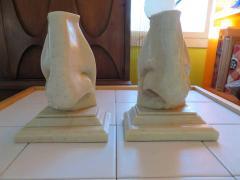Unusual Pair of Italian Mid Century Modern Oversized Nose Bookends - 1629659