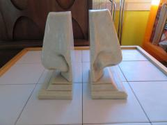 Unusual Pair of Italian Mid Century Modern Oversized Nose Bookends - 1629661