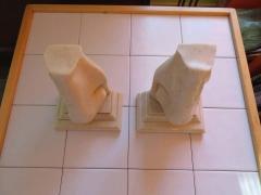 Unusual Pair of Italian Mid Century Modern Oversized Nose Bookends - 1629668