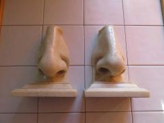 Unusual Pair of Italian Mid Century Modern Oversized Nose Bookends - 1629674