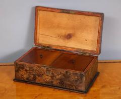 Unusual Palmwood Marquetry Box - 685810