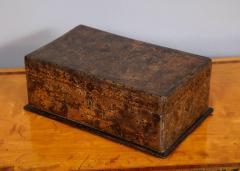 Unusual Palmwood Marquetry Box - 685811