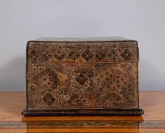 Unusual Palmwood Marquetry Box - 685814
