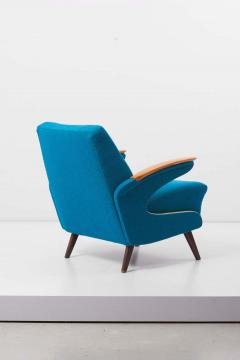 Upholstered Aerodynamic Lounge Chair 1950s - 1257650