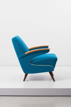 Upholstered Aerodynamic Lounge Chair 1950s - 1257651