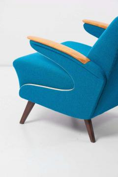 Upholstered Aerodynamic Lounge Chair 1950s - 1257652