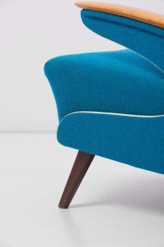 Upholstered Aerodynamic Lounge Chair 1950s - 1257653