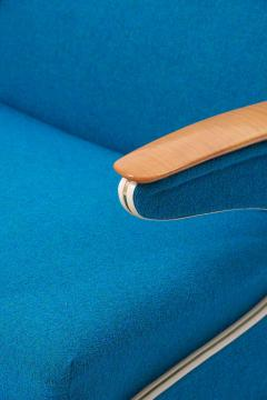 Upholstered Aerodynamic Lounge Chair 1950s - 1257654