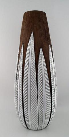 Upsala Ekeby Anna Lisa Thompson for Upsala Ekeby Paprika ceramic large floor vase - 1221860