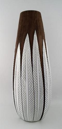 Upsala Ekeby Anna Lisa Thompson for Upsala Ekeby Paprika ceramic large floor vase - 1221863