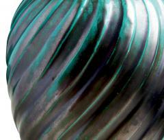 Upsala Ekeby Blueish green swirl table lamp by Ana Lisa Thomson - 980594