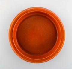 Upsala Ekeby Dish in glazed stoneware Glaze in brown and orange shades - 1348833