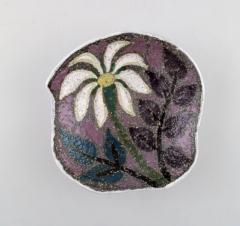 Upsala Ekeby Ester dish in glazed stoneware with floral motif - 1348864