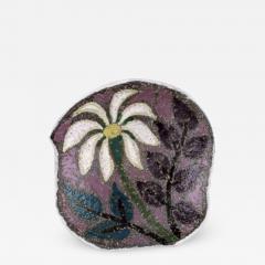 Upsala Ekeby Ester dish in glazed stoneware with floral motif - 1349962