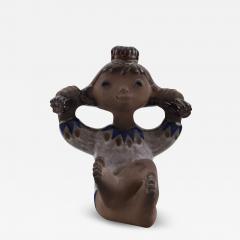 Upsala Ekeby Figure ceramics Girl with braided hair - 1349960