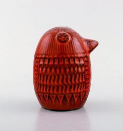 Upsala Ekeby Figure of bird red glazed ceramic Model number 0192 - 1221700