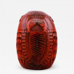 Upsala Ekeby Figure of bird red glazed ceramic Model number 0192 - 1222708