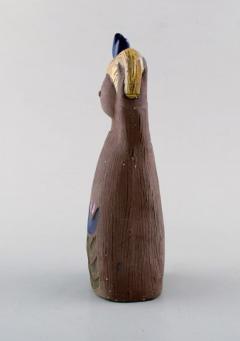 Upsala Ekeby Figurine of girl in glazed stoneware - 1348788