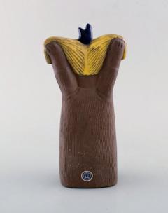 Upsala Ekeby Figurine of girl in glazed stoneware - 1348789