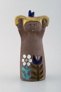 Upsala Ekeby Figurine of girl in glazed stoneware - 1348792