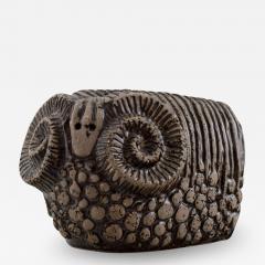 Upsala Ekeby Ram in glazed stoneware - 1349958