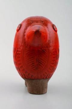 Upsala Ekeby Rare MARI SIMMULSON for Upsala Ekeby figure of bird red glazed ceramic - 1221708