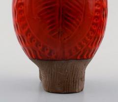 Upsala Ekeby Rare MARI SIMMULSON for Upsala Ekeby figure of bird red glazed ceramic - 1221711