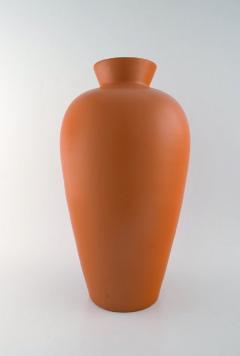 Upsala Ekeby Upsala Ekeby Large ceramic vase orange glaze Stylish design 1960 70s - 1221675