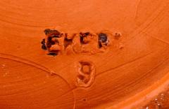 Upsala Ekeby Upsala Ekeby Large ceramic vase orange glaze Stylish design 1960 70s - 1221696