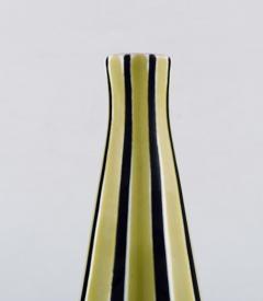 Upsala Ekeby Vase in glazed stoneware with striped decoration - 1348806