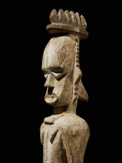 Urhubo People Nigeria Family Ancestor Statue with rests of Kaolin  - 1980773