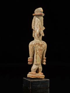 Urhubo People Nigeria Family Ancestor Statue with rests of Kaolin  - 1980783