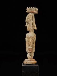 Urhubo People Nigeria Family Ancestor Statue with rests of Kaolin  - 1980784