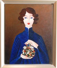Urszula Tekieli Furoshiki Woman In Blue Dress - 1062812
