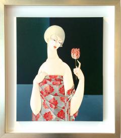 Urszula Tekieli LXIX Woman with Red Tulip - 1143643