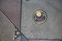 V Ramburrem Slate and Bronze Coffee Table by V Ramburrem Paul Kingma Style circa 1985 - 572484