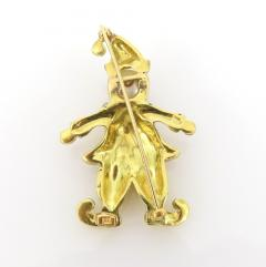 VINTAGE 18KT GOLD CLOWN PIN WITH PEARLS AND PRECIOUS STONES - 1124098