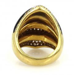 VINTAGE 18KT GOLD ONYX DIAMOND RING - 1089509